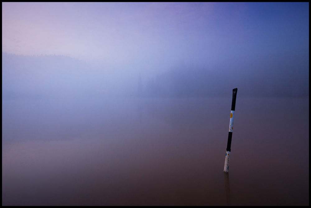 post in the fog by zsoltandrasszabo