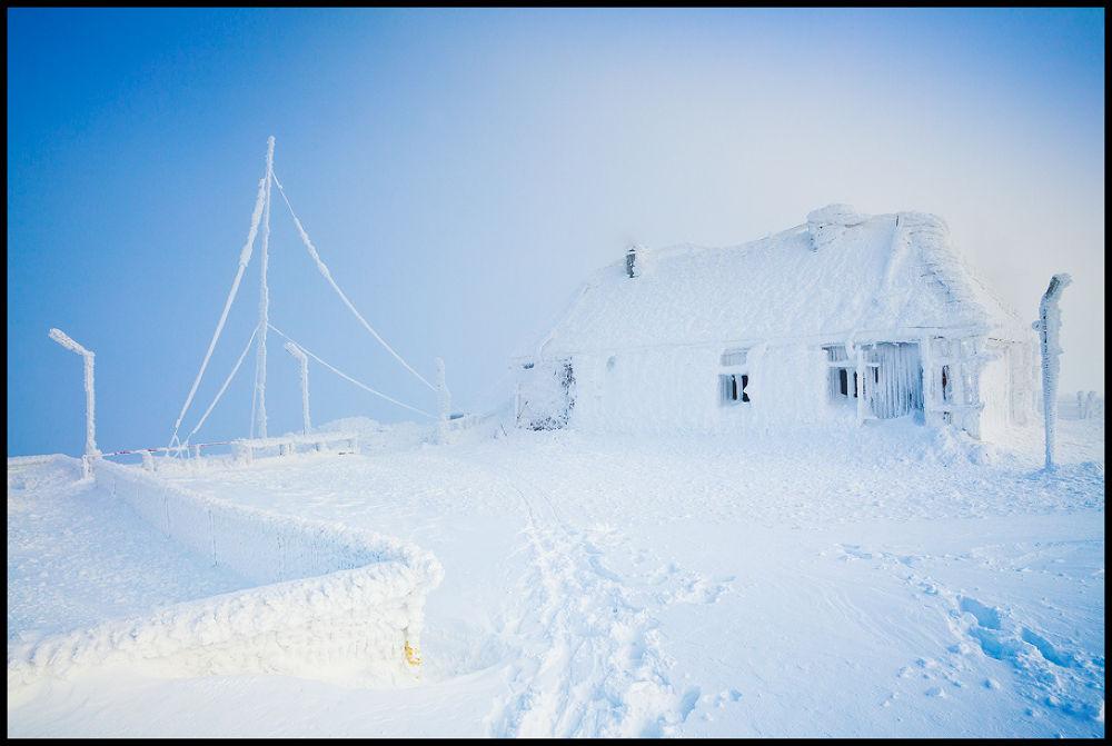 Photo in Landscape #nature #landscape #mountains #winter #snow #romania #house