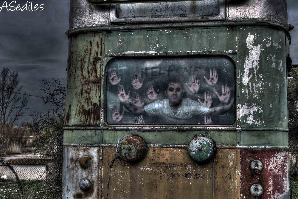 Photo in Random #surreal #sediles #autobus #troley #hdr #sinister #miedo #montaje #photoshop