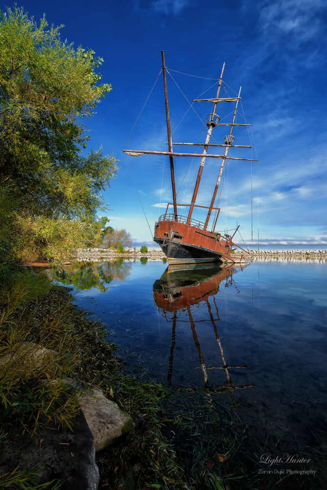 Photo in Landscape #jordan harbour #ship wreck #ontario #canada #summer #scenery