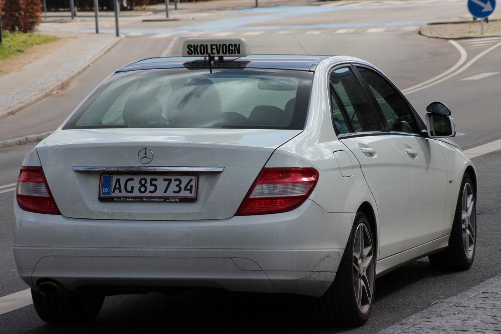 A driving teaching car in Birkerød city - Denmark- April 2014 by Farmehr