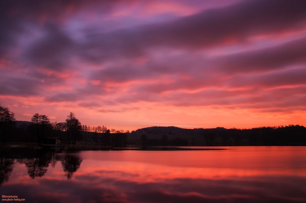 clouds on fire by Kirsten Karius