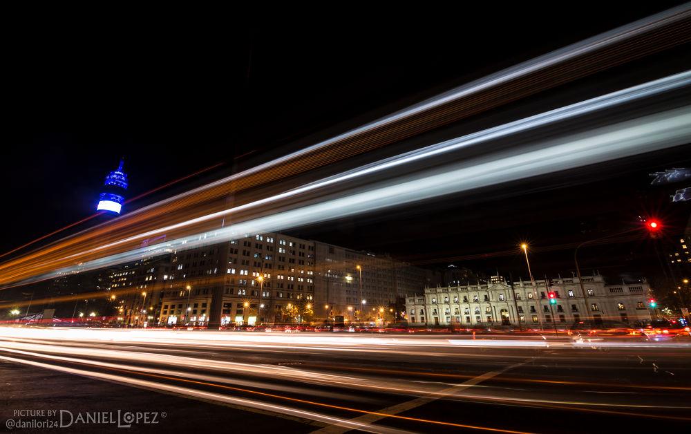 Photo in Random #palacio #palacio de la moneda #santiago #chile #moneda #calle #nocturna