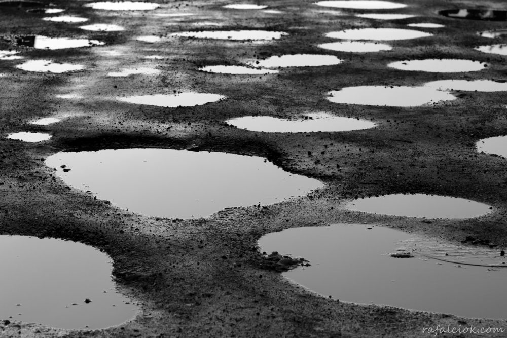 Photo in Abstract #water #street #road #hole #black and white