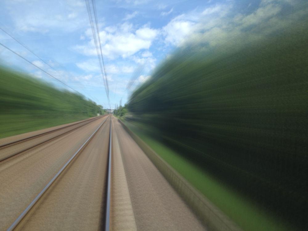 4 sec exposure on train by BigDibbs