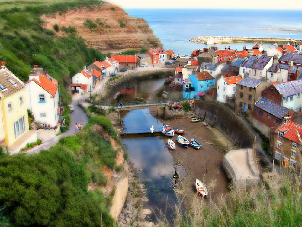 Photo in Random #view #cliffs #seaside #boats #water #river #sea #cottges #yorkshie #england