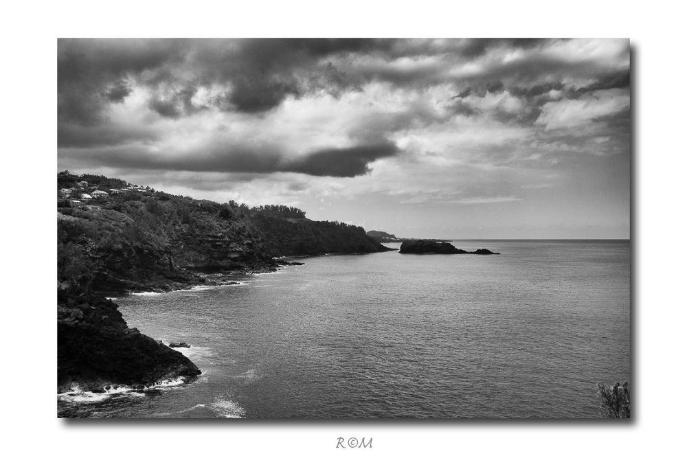 Photo in Random #landscape #black and white #la reunion #x100