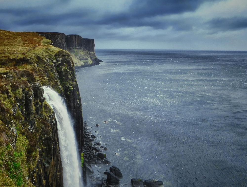 Kilt Rock Waterfall by Edgar Hempen Pictures