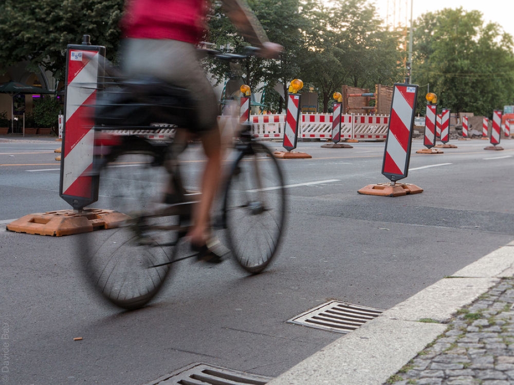 Photo in Street Photography #berlin #city #people #cyclist