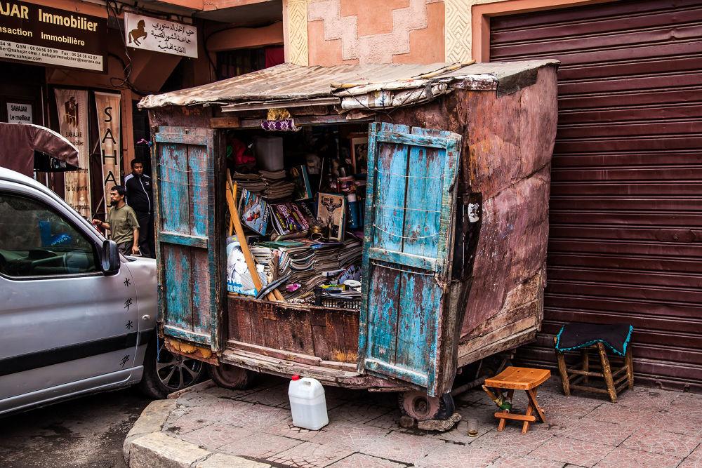 Bookshop in Marrakech by tovelisemossestad
