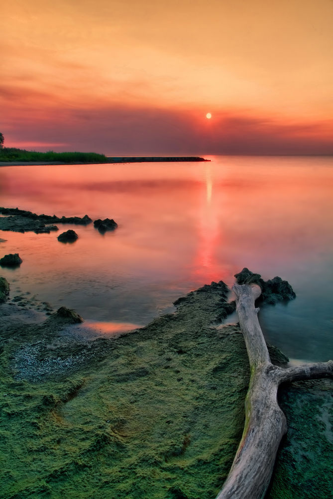 Photo in Landscape #wisconsin #sheboygen #lake michigan #great lakes #lakeshore #morning #sunrise