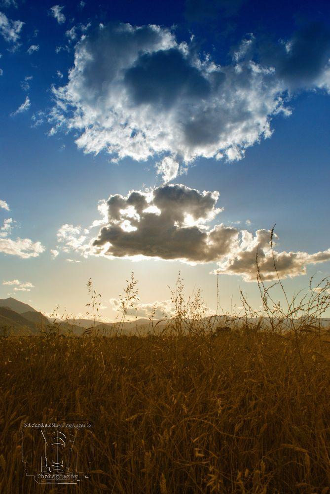 Photo in Random #landscape #sky #clouds #green #blue #sun