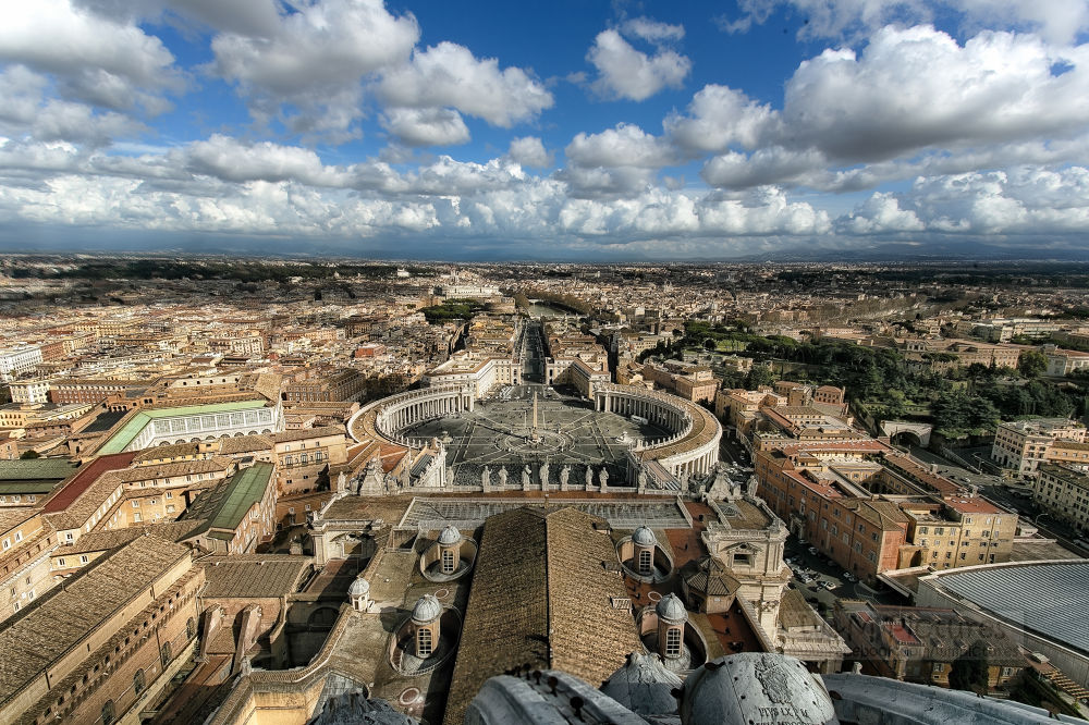 View from the top...of the Vatican by wameqraza