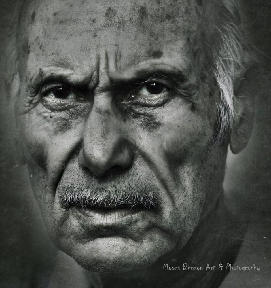 Photo in Portrait #portrait #black & white #old #man #face #people #moses benson