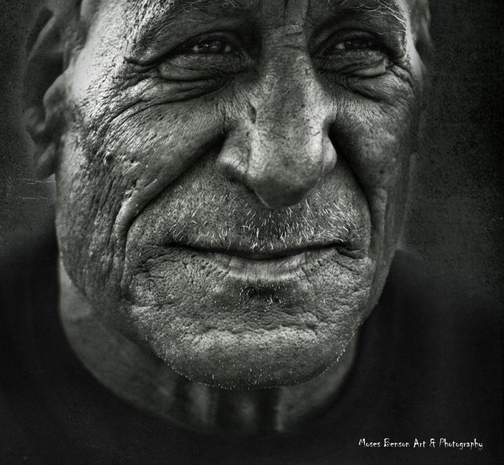 Photo in Portrait #portrait #people #old #street #black & white #moses benson