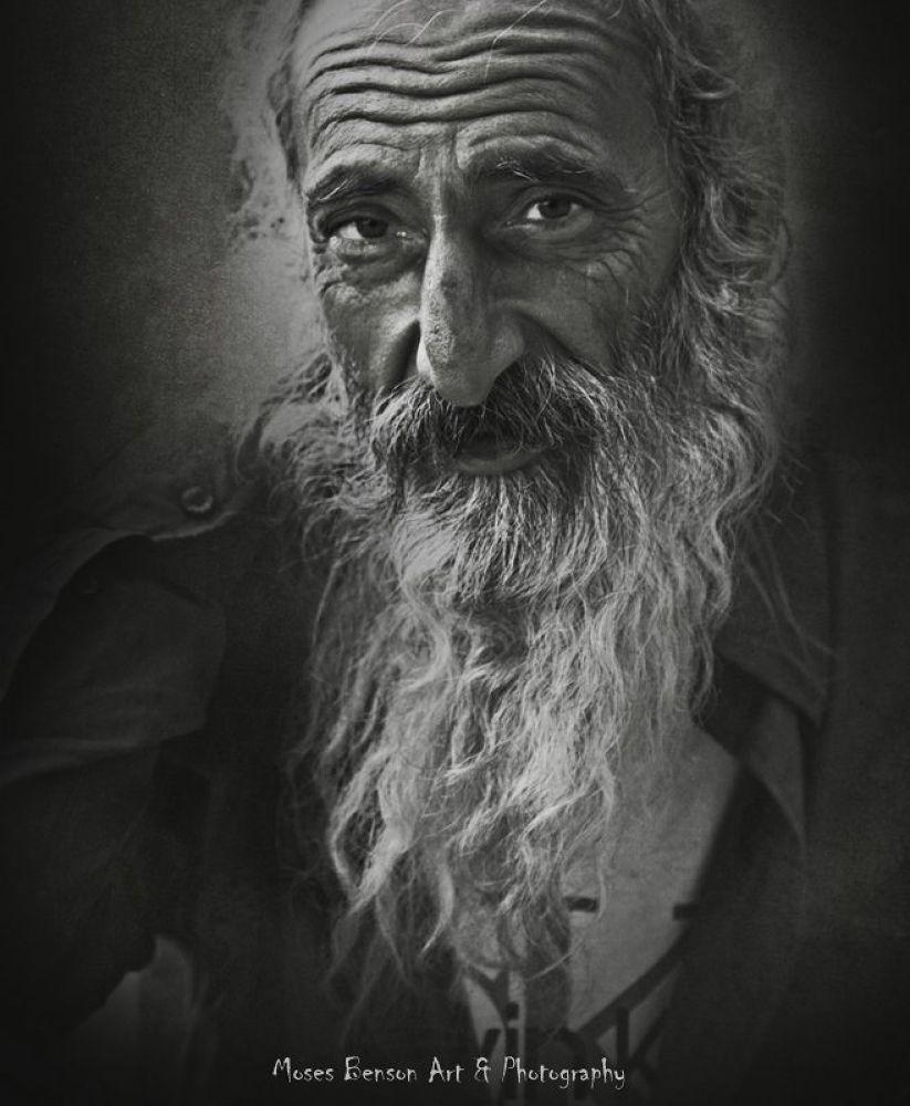 Photo in Portrait #portrait #people #old #black & white #moses benson