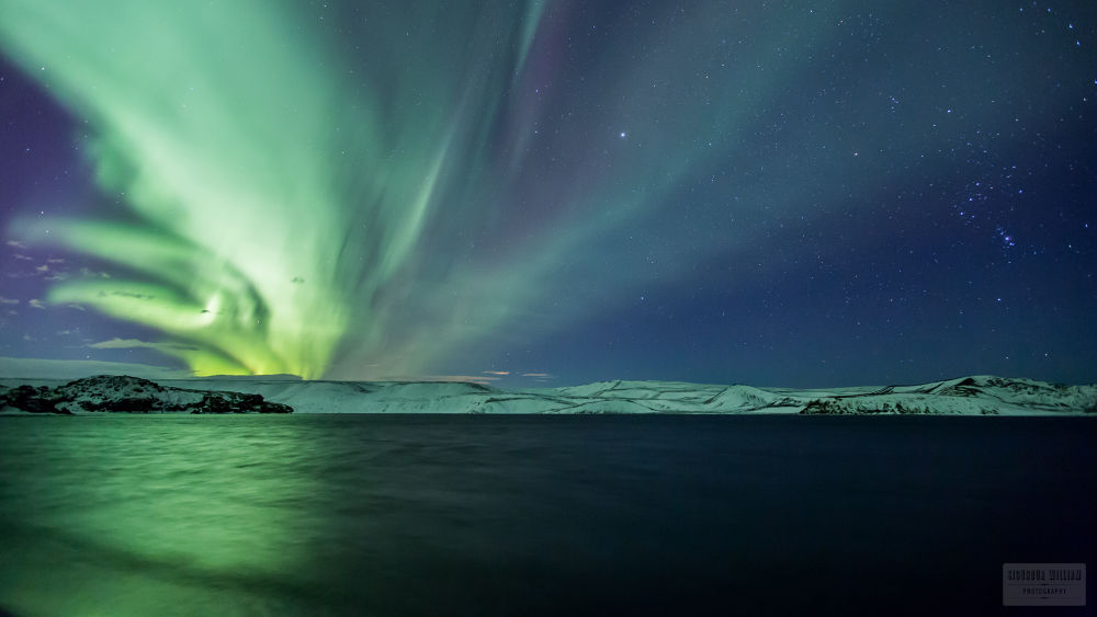 The first lights of 2014. by Sigurdur William Brynjarsson