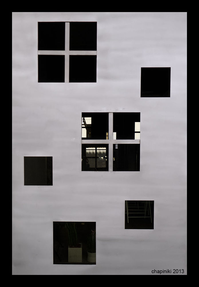 Photo in Black and White #cuadrado #door #puerta #ventana #window #square #geometry #geometries #geometria #geometría #metal #grey #gris #shape #formas #texture #texturas
