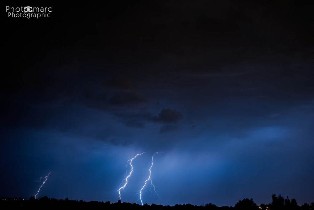 Multiple Lightning Strikes by marcrossmann