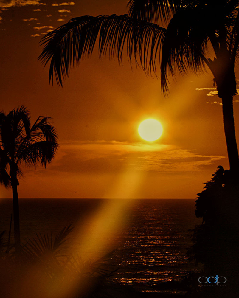 Photo in Travel #one digital place photography #sunset #sun rays #ocean