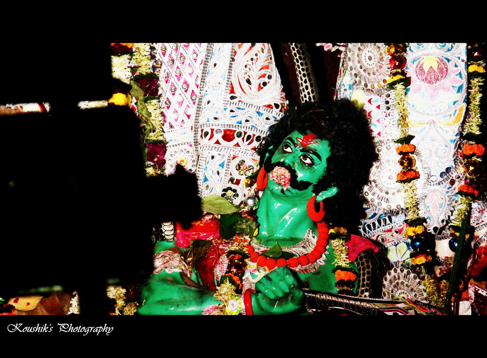 Photo in Abstract #cultural #durga #devil #calcutta #kolkata