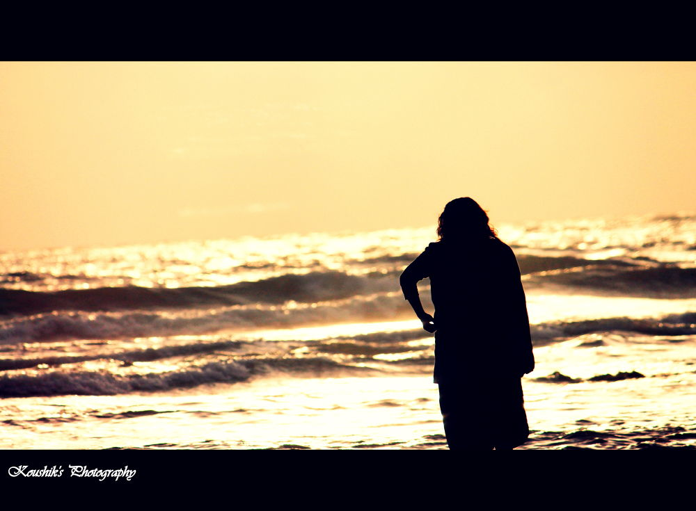 Alone in beach  by koushikacharya