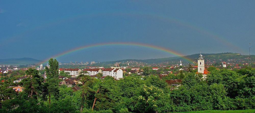 Double Rainbow Panorama by smiclaus