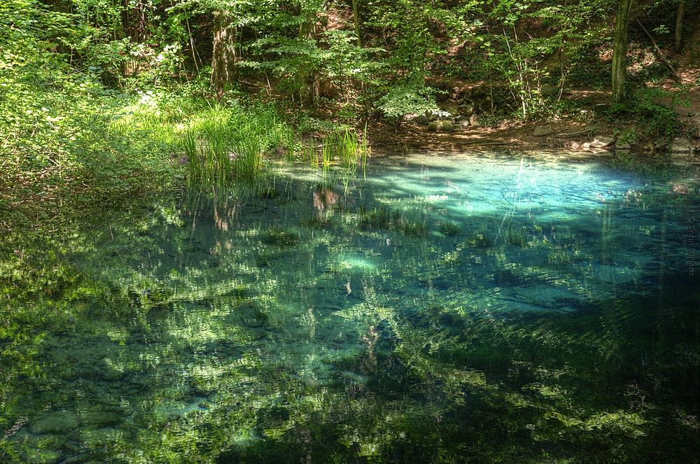 Blue Lake in the Forest by smiclaus