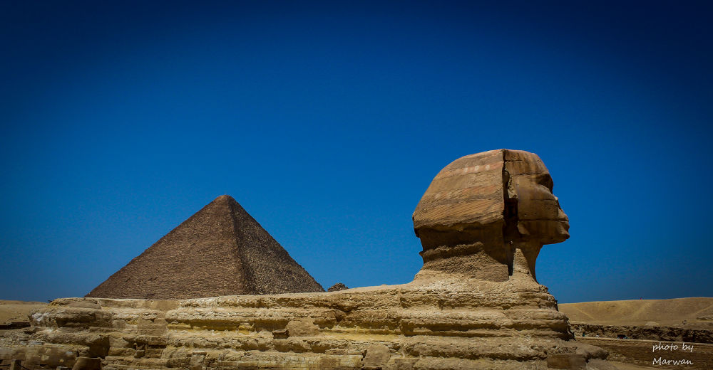 Sphinx and Pyramid by Marwan Elshouky