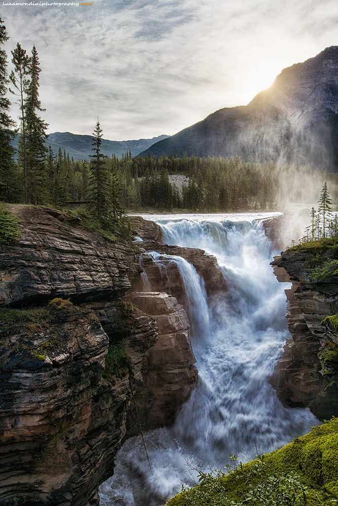 Athabasca falls by lucamondini