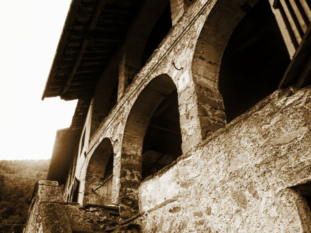 Photo in Architecture #architecture #sepia #rural #houses