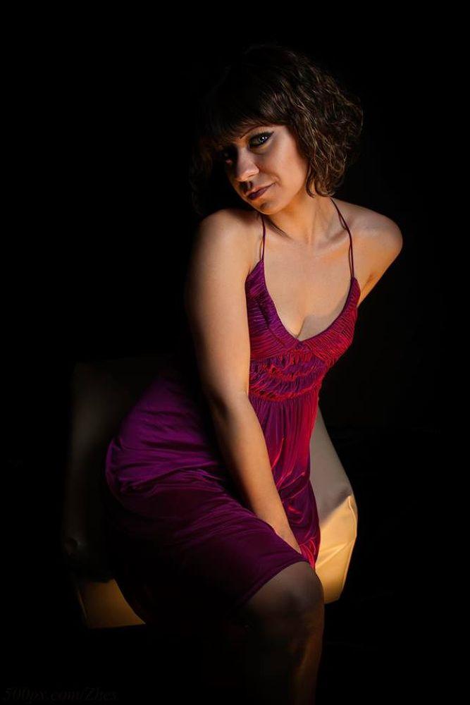 Purple dress by Eugene