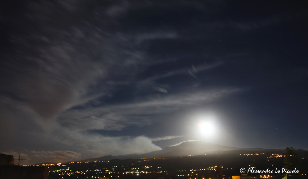 Mt. ETNA & the Moon  (Sept. 19th 2013 - h. 05:25)  - © Alessandro Lo Piccolo by Alessandro_Lo_Piccolo_Hollweger