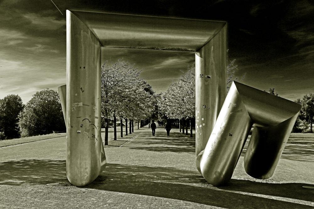 Photo in Abstract #nordsternpark #gelsenkirchen #schalke #ruhrgebiet #industriekultur #kunst