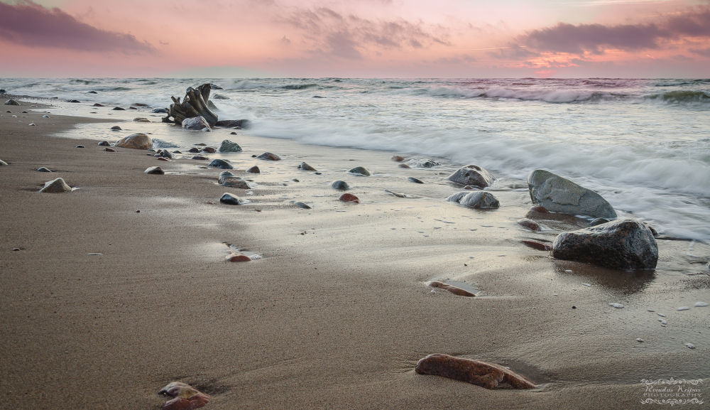Photo in Landscape #sunset #landscape #sea #sky #stone
