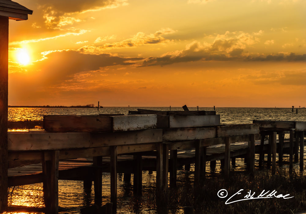 Sunset on Smith Island - Crab Shanty and Shedders (1 of 1).jpg by erikmoore526
