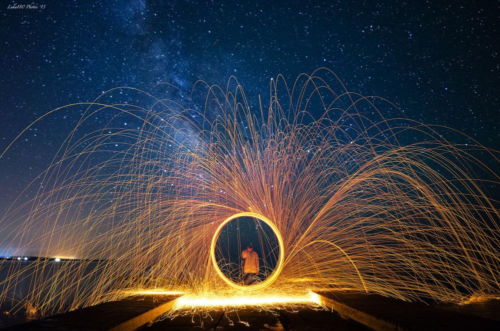 Fire Under The MilkyWay by Luca Sanna