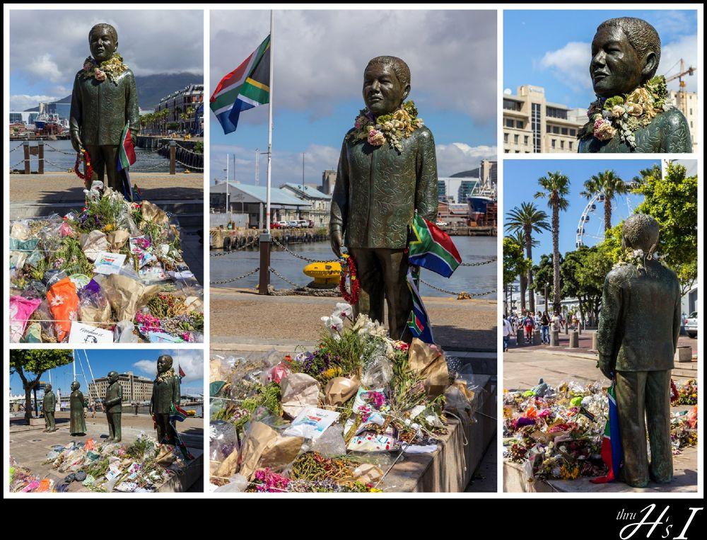 Nelson Mandela - Nobel Square, Cape Town by HelenaSousa