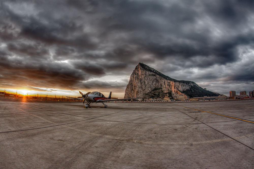 Aircraft during sunrise @ Gibraltar International Airport by jbenyunes