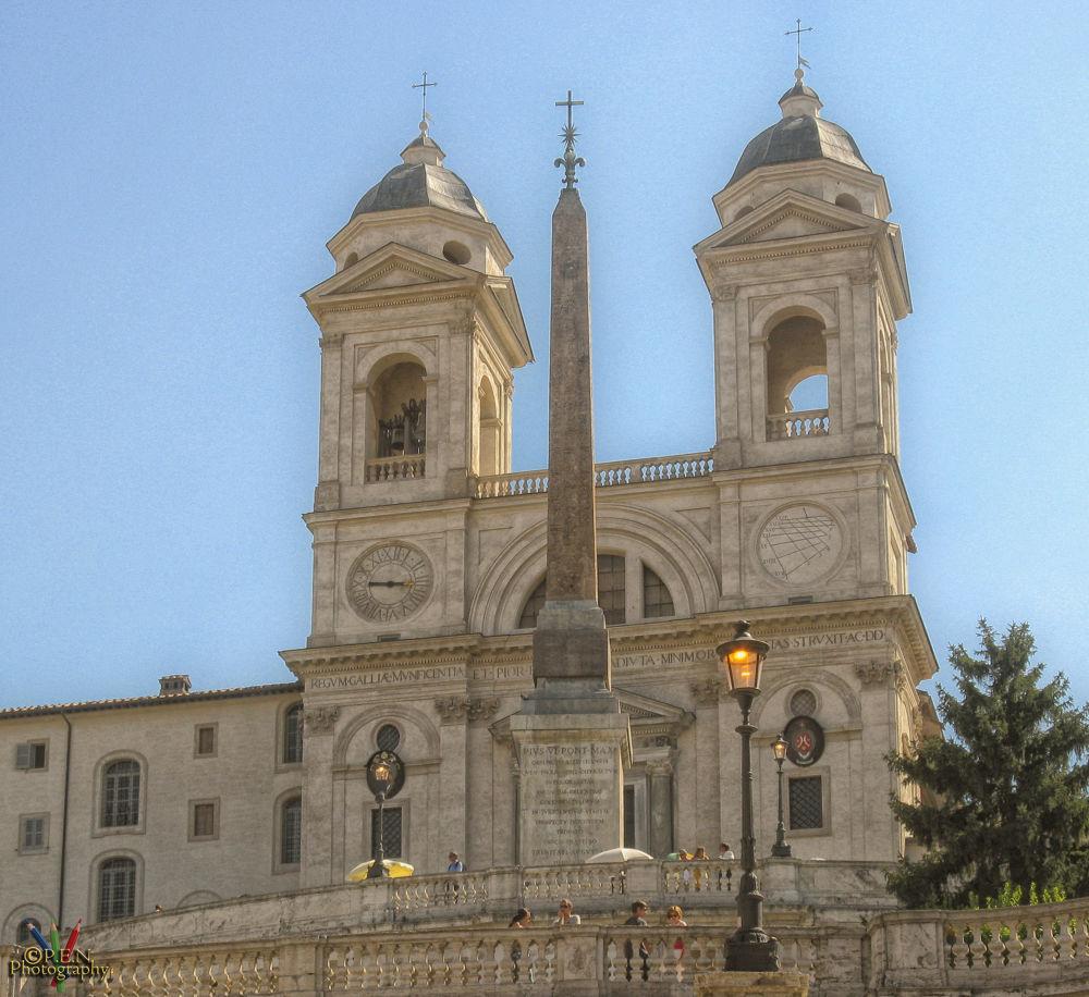 Trinità dei Monti, Rome by patrickyolanda
