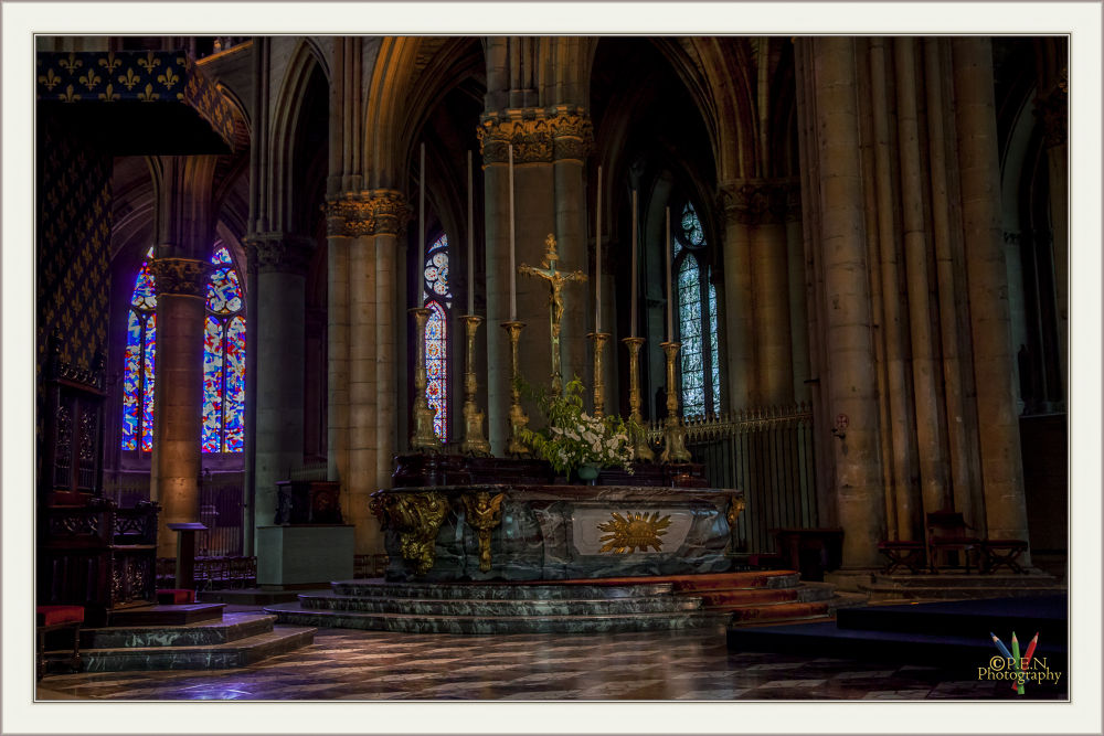 Photo in Random #france #reims #city #interior #cathedrale #altar #high #2013 #ypa2013