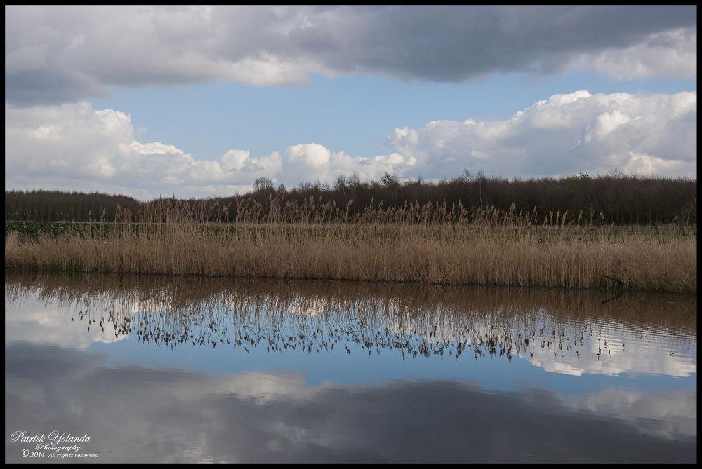 Thunder clouds Mirror by patrickyolanda