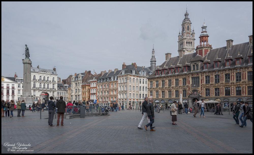 City Lille, France, Grand place. by patrickyolanda