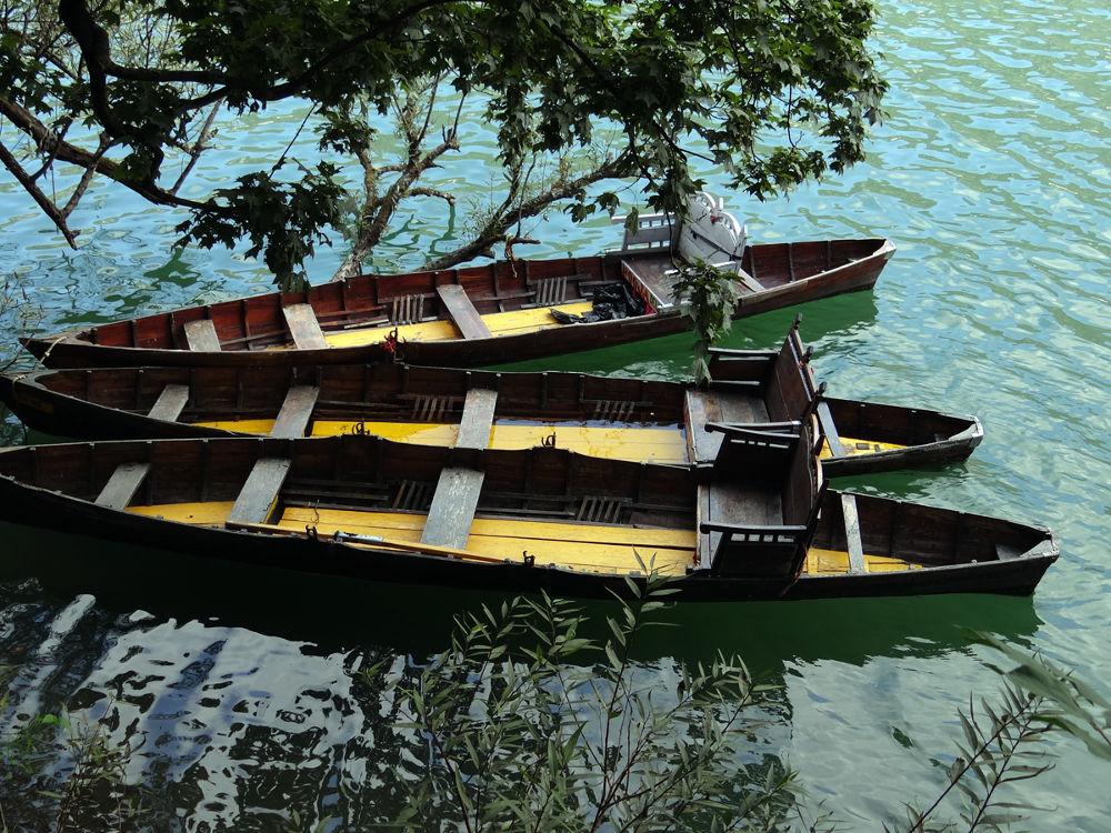 Boats at Nainital Lake, India by prashantbhandari90