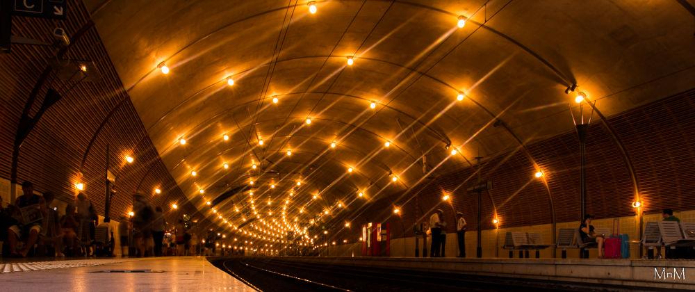 Monaco-Montecarlo Train Station by Marvin Bermudez