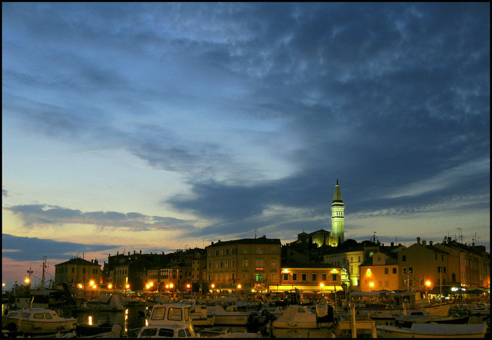 Rovinj by night by gordanavale