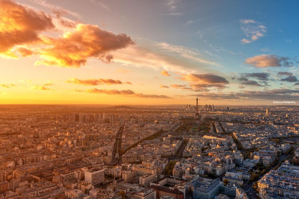 Photo in Cityscape #paris #sunset #hdr #eiffel #dri #tower #cityscape #canon #5d #sky #glow