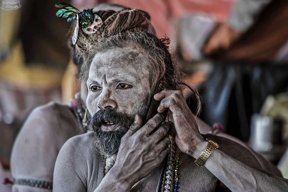"""Naga Baba in different mood"" by nirupamphotography"