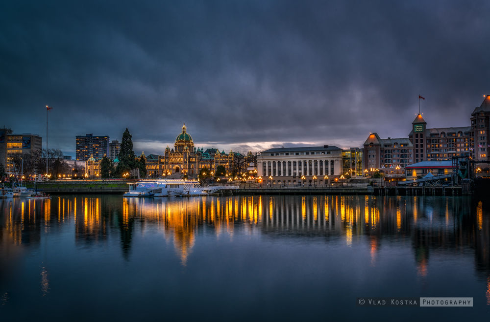 Victoria harbour and Parliament by vladkostka