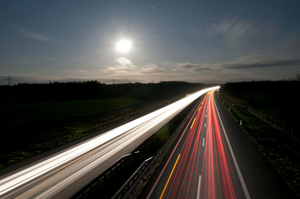 Highway Car Lights Two by jngshots